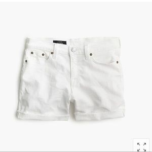 J.crew denim shorts in white